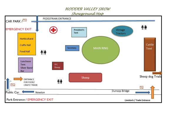 Hodder Valley SHOW FIELD PLAN 2019